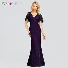 Длинное вечернее платье с блестками и двойным V-образным вырезом для женщин EP00854 Jurken Gala элегантные платья для вечеринки(Китай)