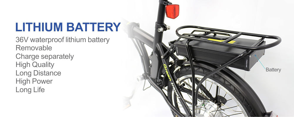 Folding design city carbon 250w 350w 36v 20 inch moped electric bicycle - folding electric bike - 7