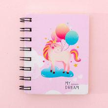 Новинка 2020, мультяшный портативный блокнот с мини-катушкой, твердая обложка, милая тетрадь с животными, органайзер для записей, школьные при...(Китай)
