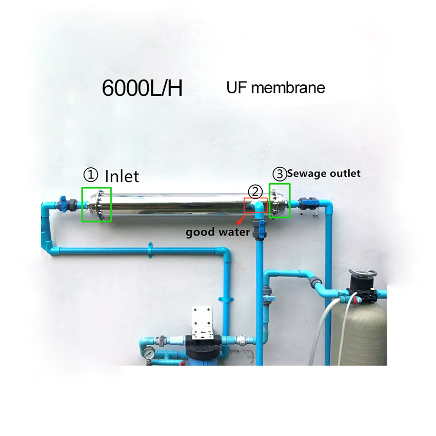 Stainless steel kitchen UF membrane <strong>water</strong> purifier 4000L ultra filtration <strong>water</strong> <strong>system</strong>