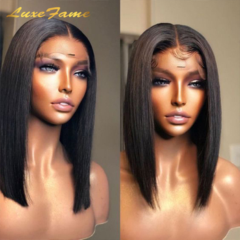 Cheap Price Short Bob Human Hair Wig,8inch-14inch Wholesale Mink Brazilian Hair Wig,4x4 Closure Short Bob Wigs For Black Women