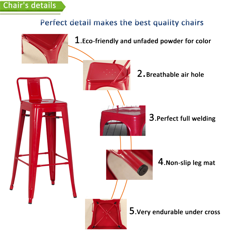vintage outdoor metal coffee shop restaurant bar used cheap commercial short back vintage metal bar stool chair
