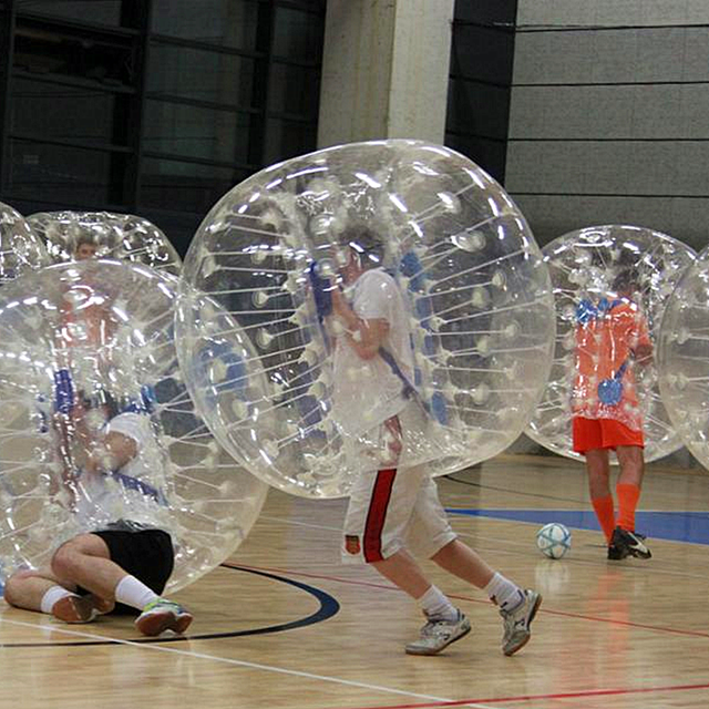 Soccer bubble set with Blower Pump Inflatable bumper ball inflatable clear plastic ball small pvc inflatable ball