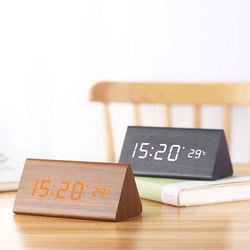 2020 Hot Sale New Style Led Alarm clock USB charging LED table lamp digital wall clocks speaker with alarm clock