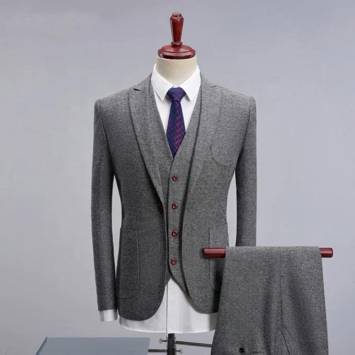 औपचारिक स्लिम फिट बिजनेस सूट के लिए आदमी शादी सबसे अच्छा आदमी सूट ऊन व्यापार कोट
