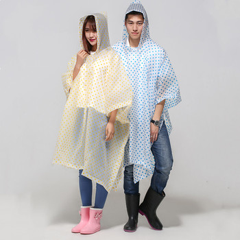 China Supplier Hooded Rain Poncho Disposable Poncho One Off Rain Coat With Cap