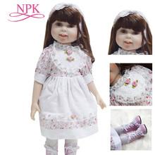 18-дюймовая кукла ручной работы, полностью виниловая силиконовая кукла для детей, Реалистичная кукла для детей, подарок на день рождения(Китай)
