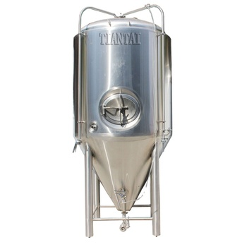 Craft brewery equipment brewing supplies 2000L Stainless steel double wall glycol jacketed side manway best conical fermenter