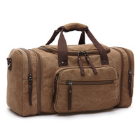 Hot sale soft canvas travel bags men carry on luggage weekend bag large capacity duffel bag