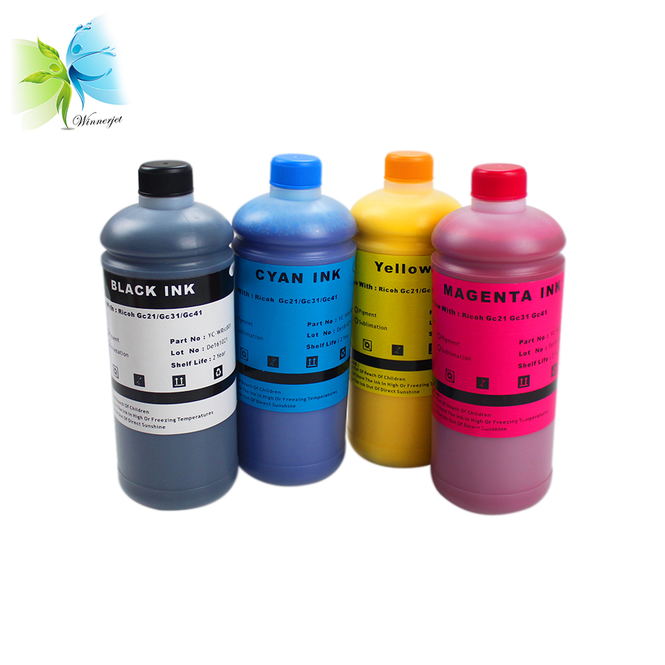 WINNERJET GC21 GC21 water base pigment ink for Ricoh aficio GX2500 3000 3050N 5050N 7000 3000SF 3000S 3050SFN 5050 printer