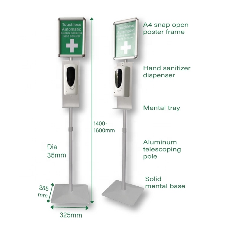 Automatic Hands-Free Soap Dispenser with Floor <strong>Stand</strong>/ Heavy Duty Liquid/Gel Hand Sanitizer Soap Dispensers