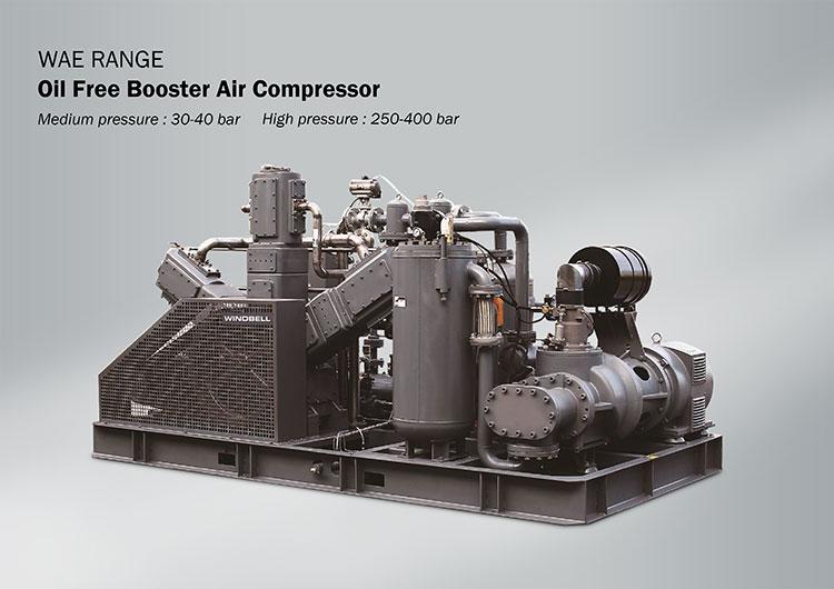 High Pressure Oil Free Screw Air Compressor 300Bar