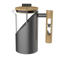 DHPO 800ml design high quality french press coffee maker with bamboo lid
