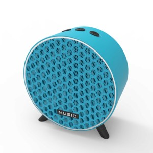 Portable multi color clock size bluetooth wireless speaker for outdoor and indoor