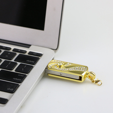 Gold metall diamant nizza luxus usb stick 8 gb/16 gb/32 gb