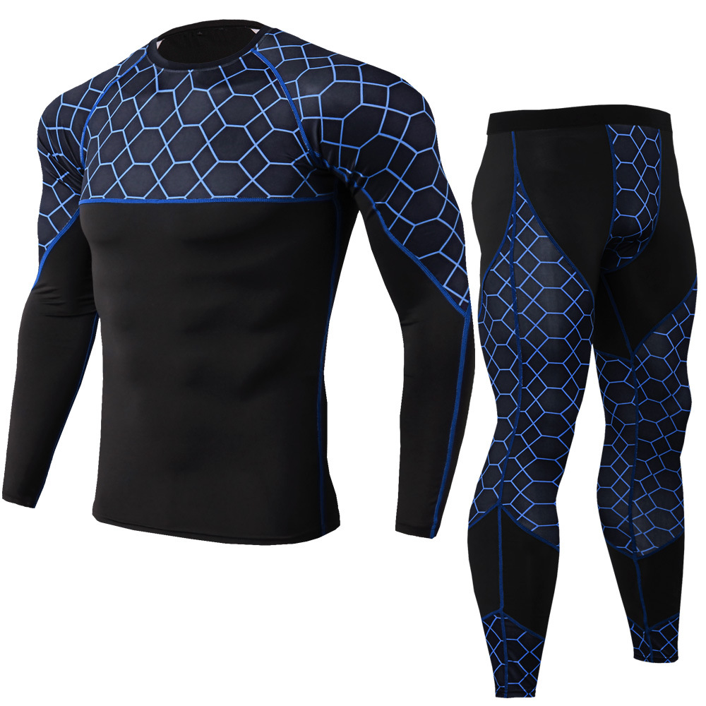 Men's Compression Running Pants Sportswear Jogging t shirts Leggings Tracksuit Sets Mens Gym Fitness Clothing