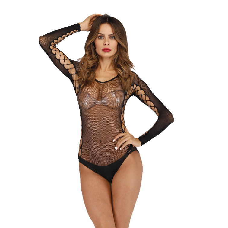 2020 See Through Hot Women Sleepwear Black Sexy Lace Lingerie