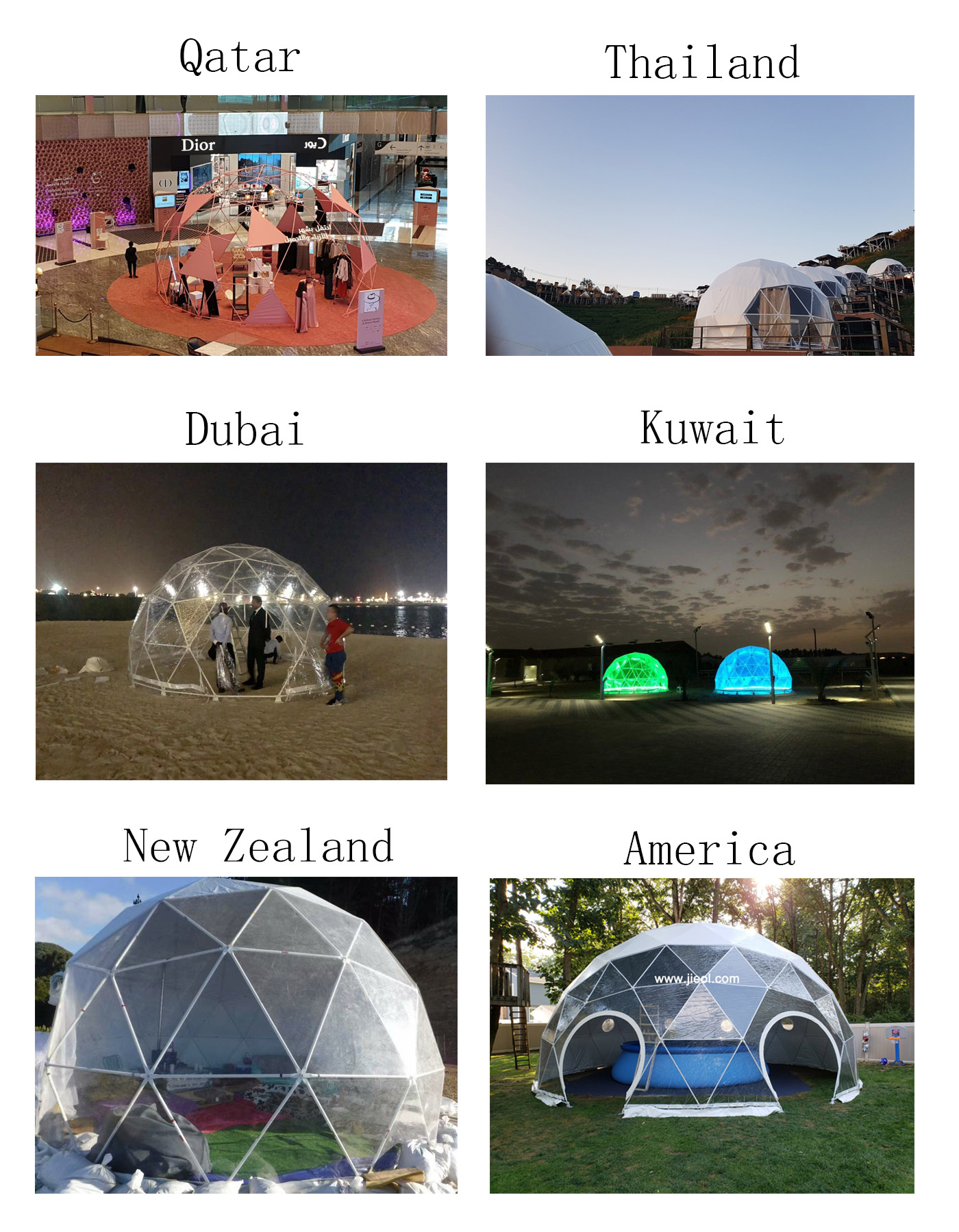 2-3 Persoon Best Selling Outdoor Glamping Dome Tent, Geodetische Koepel Huis