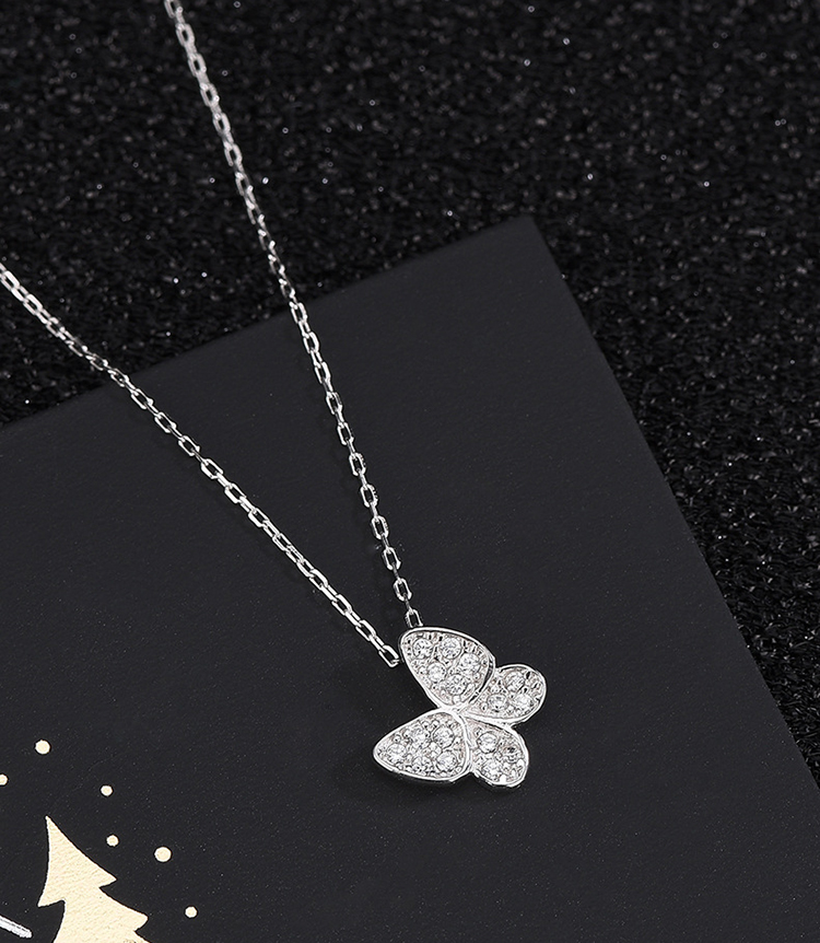 top quality gold filled jewelry noble 18k gold diamond pendant butterfly necklace for wedding party jewelry