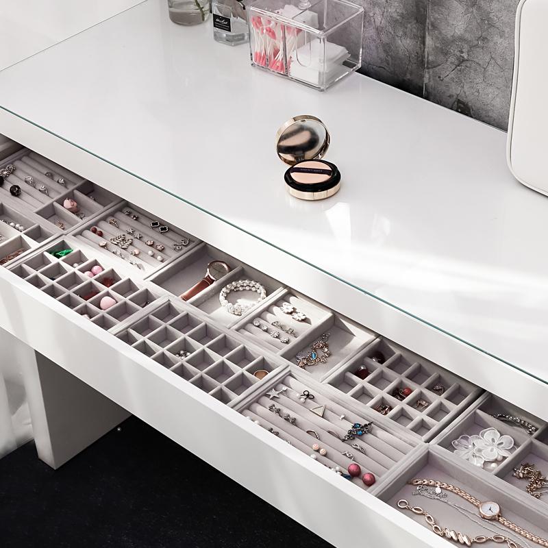 Tray Showcase Ring Luxury Display Velvet jewelry Storage Box jewelry Organizer