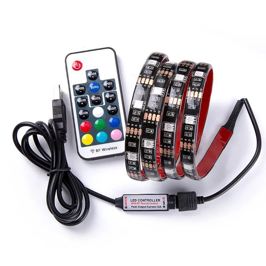 USB HA CONDOTTO LA Luce di Striscia di SMD 5050 RGB Colorful DC5V Flessibile HA CONDOTTO LA Luce Del Nastro Del Nastro APP Impermeabile TV Sfondo di Illuminazione