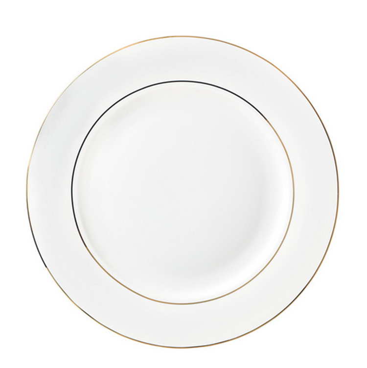 Wedding good quality cheap modern ceramic gold rim charger plate for catering