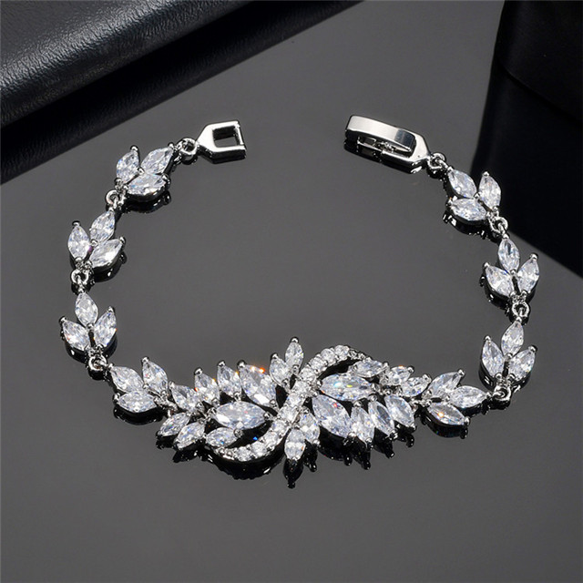 Top Quality Fashion 3A Cubic Zirconia Jewelry Wholesale Women Crystal  Amethyst Bracelet