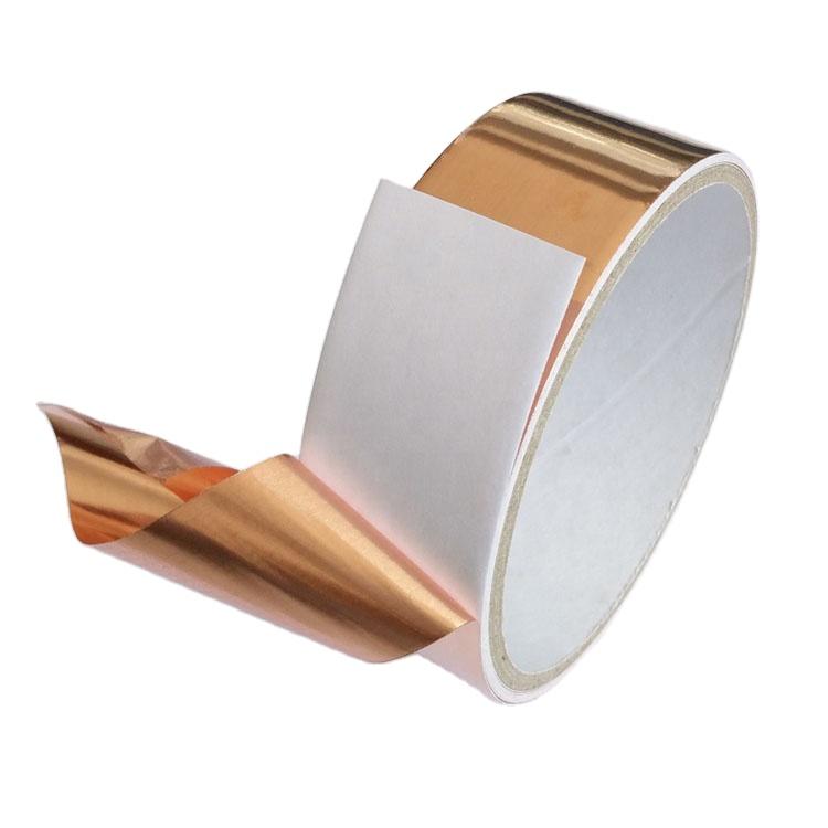 प्रवाहकीय चिपकने वाला 2mm तांबा पन्नी टेप तांबा पीतल तांबे पन्नी टेप
