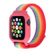 Нейлоновый спортивный ремешок для Apple watch 44 мм 40 мм iWatch band 42 мм 38 мм чехол + ремешок apple watch 5 4 3 2 1 серия 38 44 мм(Китай)