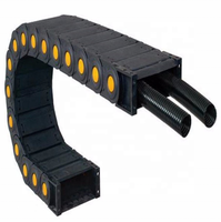 Big suppliers Black flexible plastic drag chain cable carrier chain