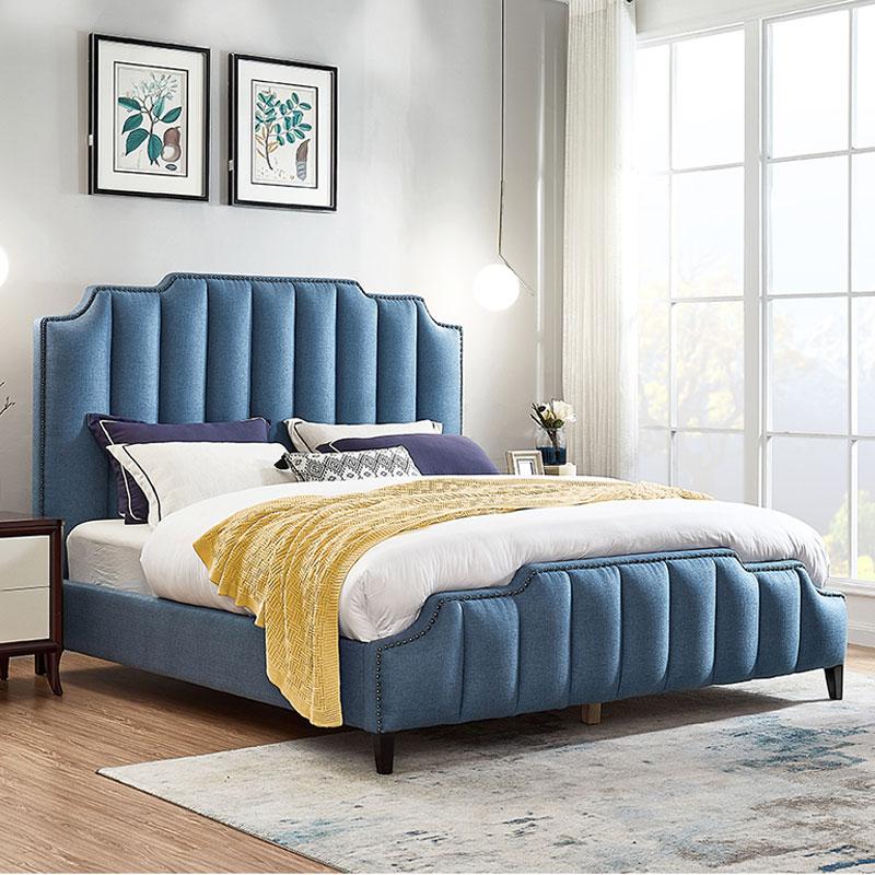 Современный европейский стиль king size двуспальная кровать роскошная ткань кровати наволочки для двуспальной кровати мягкие мягкая кровать