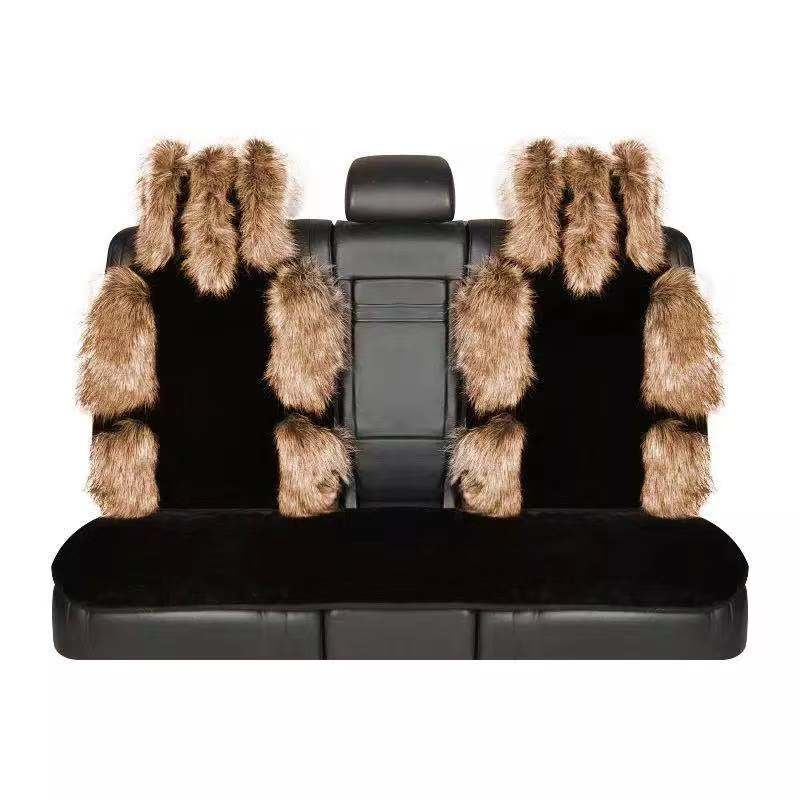 Excellent quality fur wool car seat cover auto interiors cushion sheepskin car seat cover