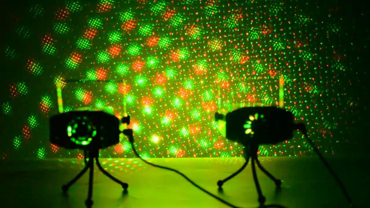 สินค้าใหม่MINI Laser STAGE Lighting OEM/ODMคุณภาพรีโมทคอนโทรลโปรเจคเตอร์LIGHT