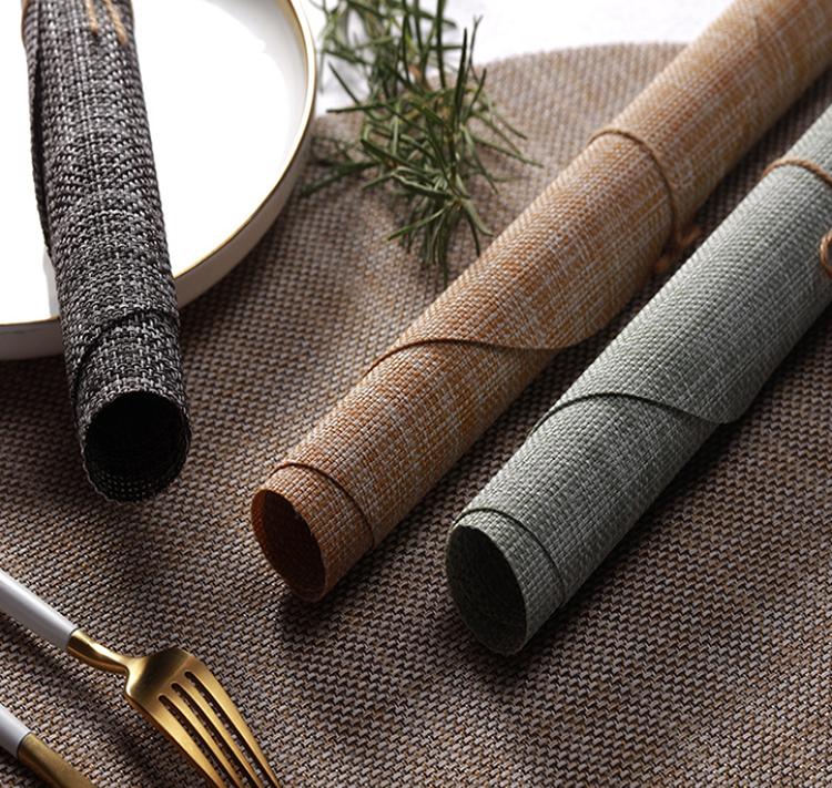 D-Casa venta al por mayor de impresión de pvc tejido textil personalizado manteles