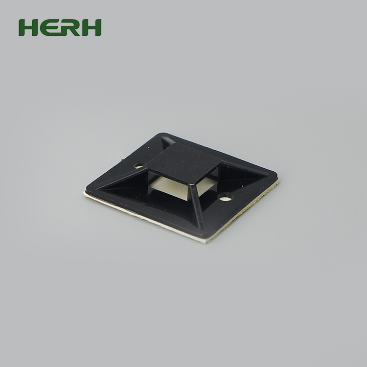 Herh high quality self adhesive cable tie mount size 25mm