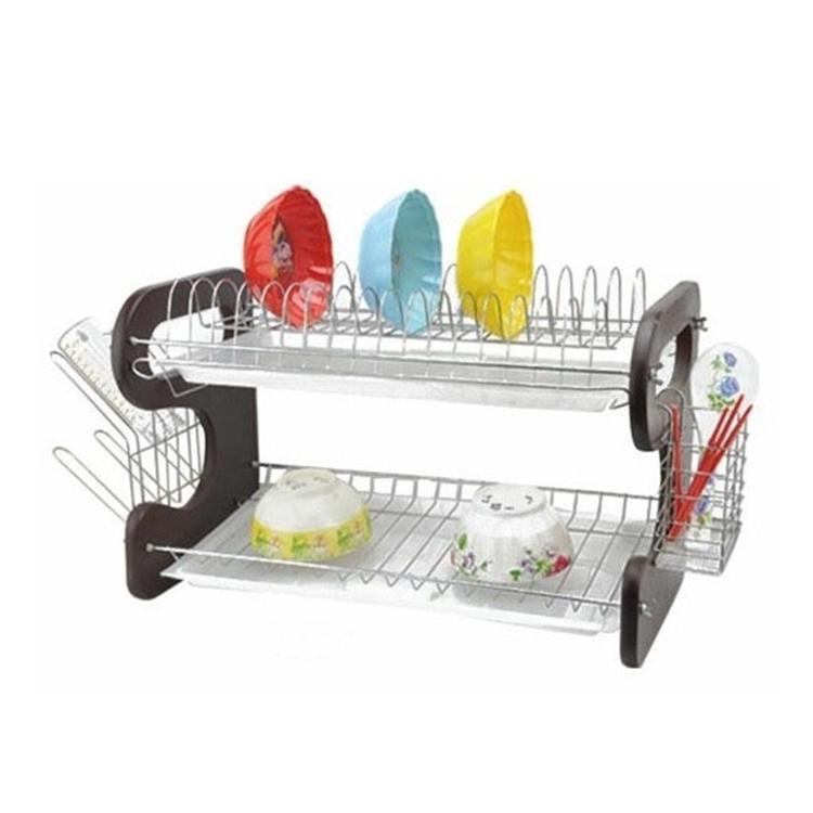 Кухонный Органайзер Многофункциональный двухслойный стеллаж для посуды