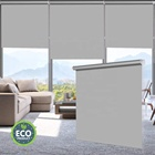 100% Blackout Waterproof Fabric Window Roller Shades Blind, Thermal Insulated,UV Protection