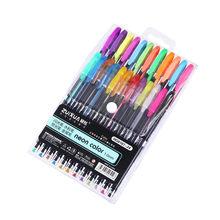 Набор гелевых ручек для журналов, школьные ручки для рисования граффити, шариковая ручка 1,0 мм, цветные дневные ручки, маркеры, хайлайтер(Китай)