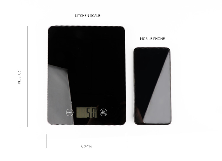 Multifunction 5kg/11lb Electronic Household Kitchen Scale with LCD Display