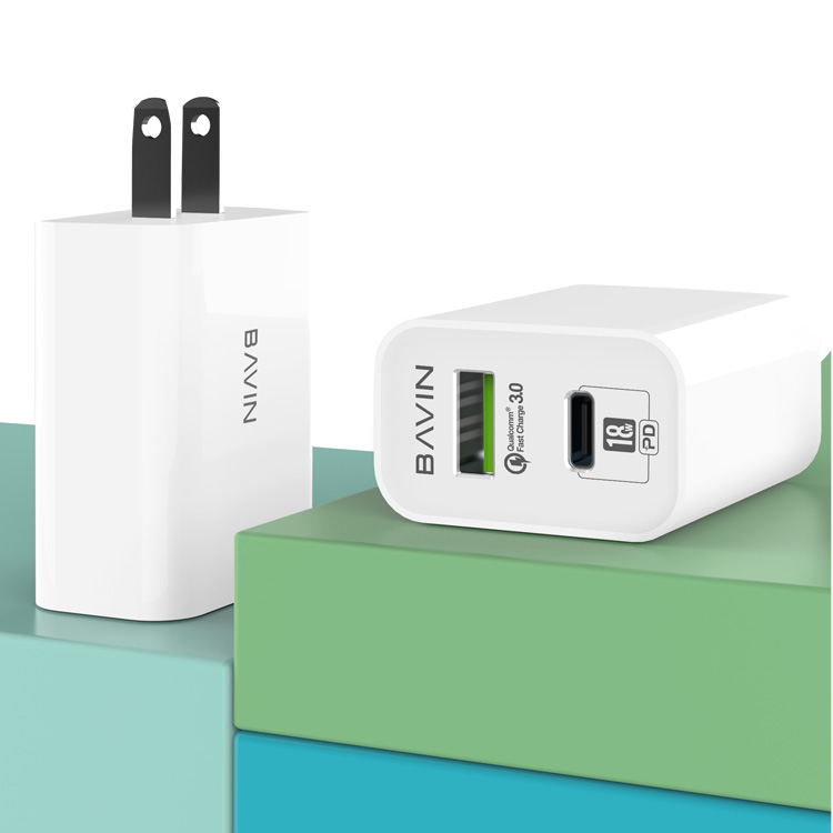 Hot selling Mobile phone accessories QC3.0 EU wall charger USB travel chargerwhite color home mobile charger