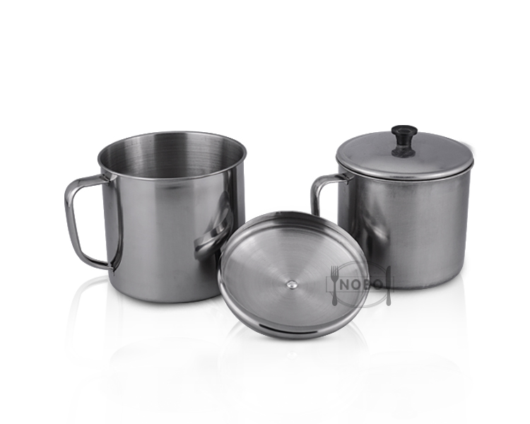 Wholesale gift set stainless steel camping mug with handle