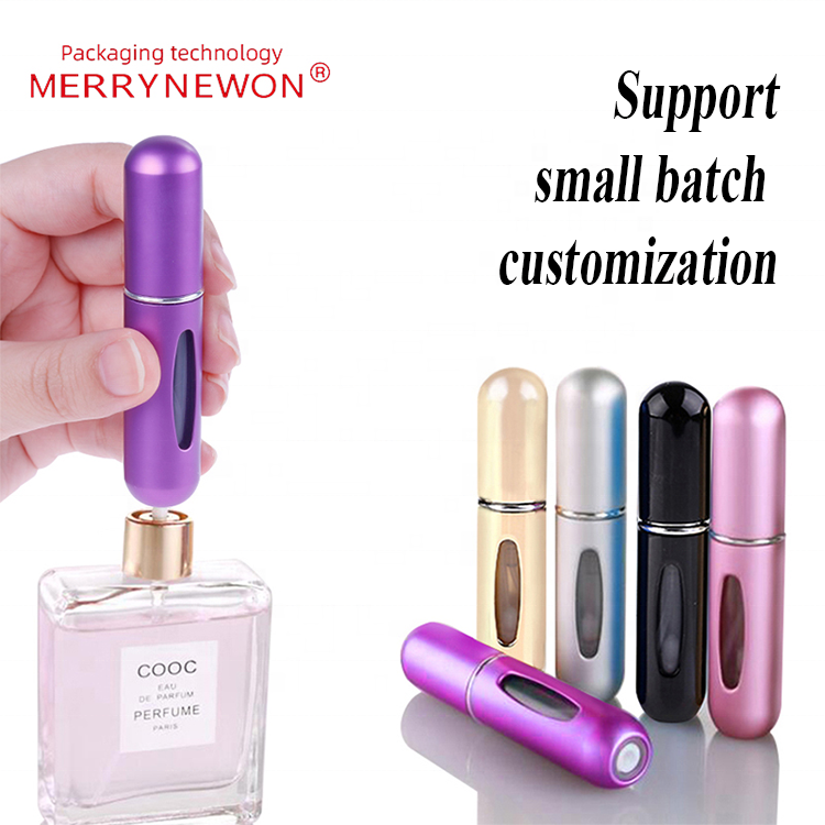 Hot Sale Portable 5ml 8ml Travel Mini Container Aluminum Refillable Perfume Spray Bottle Empty Cosmetic Container Perfume Bottle