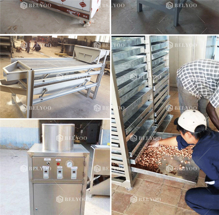 New automatic cashew nut cracking shell breaking cracker sheller processing equipments line cashew nut shelling machine