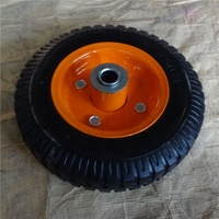 durable 200mm diameter 8 inch solid rubber wheel for tool carts