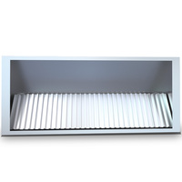 stainless steel commercial kitchen range hood