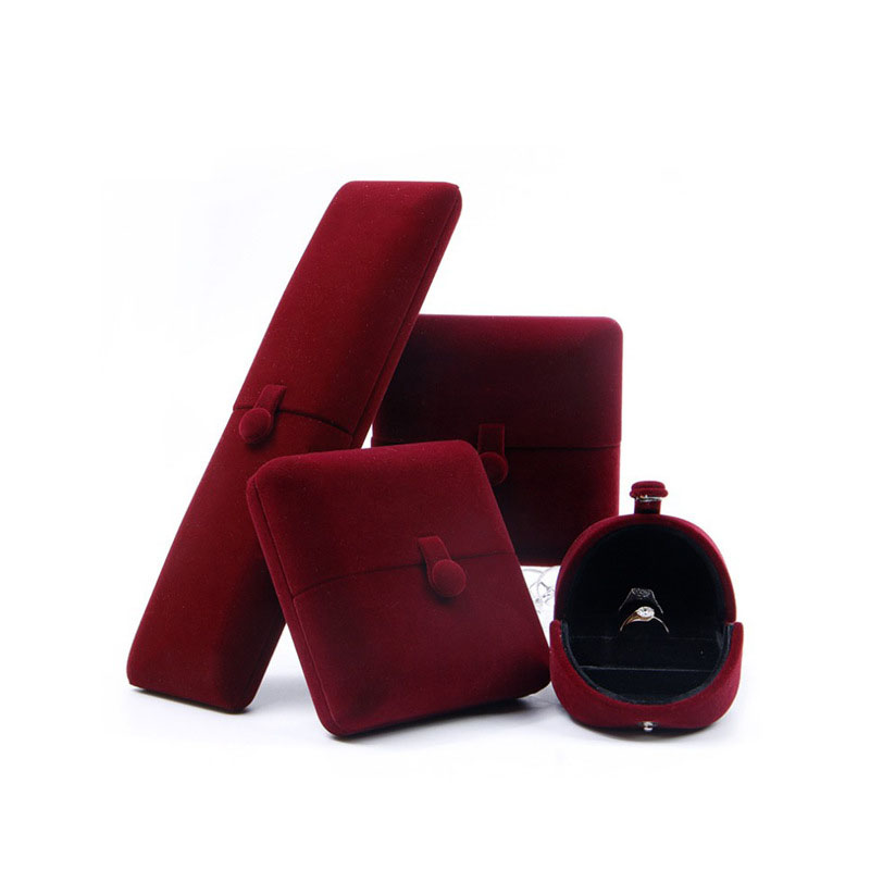 Double Open Ring Necklace Gift Box Velvet Jewelry Box Set