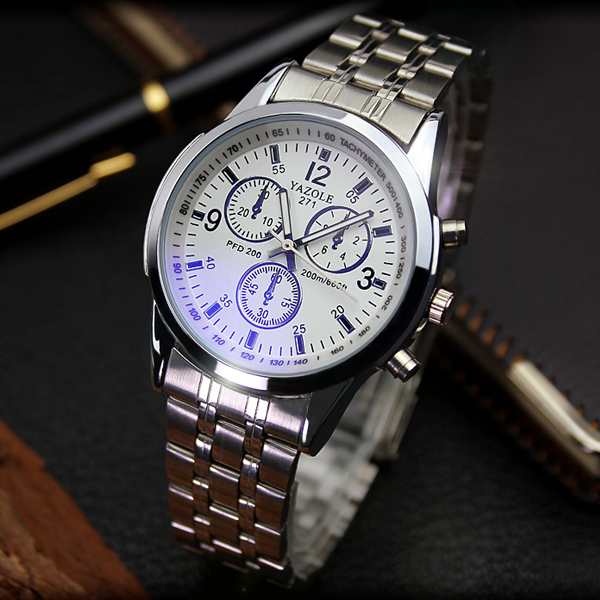 New Design Metal Strap Business Male Watches For Men Stainless Steel Strap  Wristwatch Reloj Waterproof