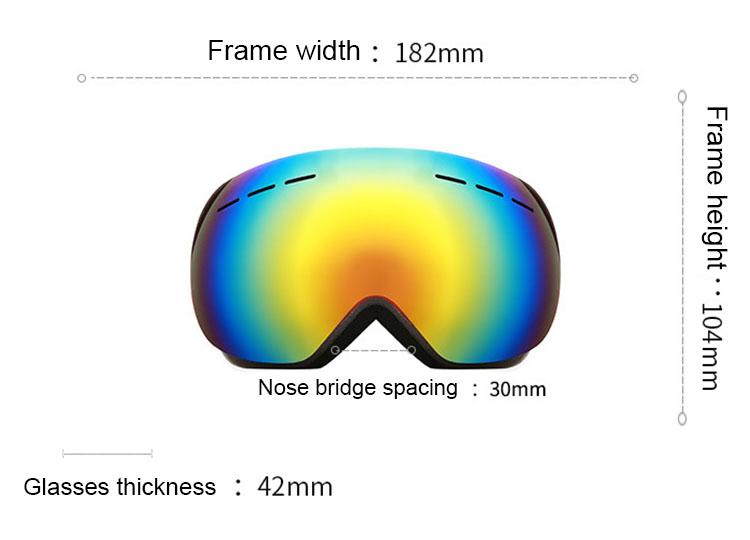 יצרן oem עדשה חיצוני dustproof סקי סנובורד משקפי לגברים אופנתי סקי