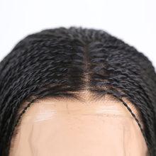 RONGDUOYI, черный, 500 шт., плетеные косички, кружевные парики для женщин, средняя часть, жаростойкие волоконные волосы, синтетические волосы на кр...(Китай)