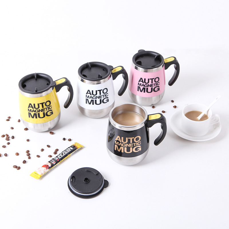 Self stirring coffee mug Automatic mixing stainless steel cup for coffee, tea, hot chocolate, milk, protein shake, bouillon